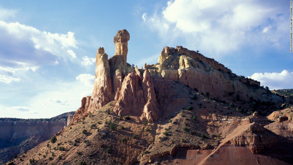 The landscapes of Ghost Ranch in Abiquiú have been immortalized in films and by artist Georgia O'Keeffe.