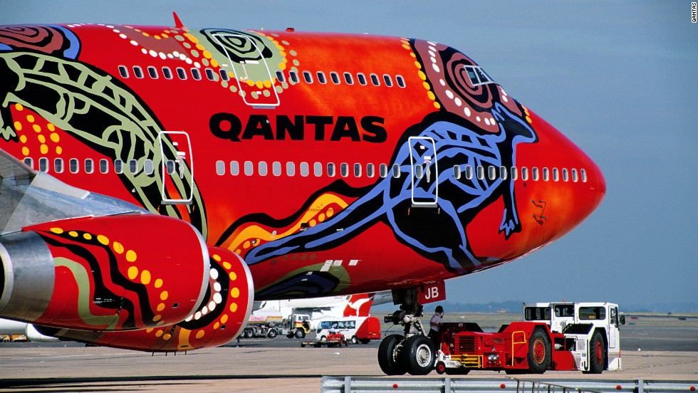 Qantas has some of the most colorful liveries around. Back in 1994 it commissioned the aboriginal-themed Wunala Dreaming design for the side of a Boeing 747. Another livery was Yananyi Dreaming, inspired by Uluru (Ayers Rock) and the stories of the indigenous Anangu people.