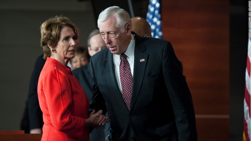 <strong>Rep. Nancy Pelosi, D-California, and Steny Hoyer, D-Maryland</strong> -- Players on deck. The top two House Democrats are mostly watching and waiting.  But they will play a critical role once Boehner decides his next move.  They could either bring Democratic votes on board a deal or be the loudest voices against a new Republican alternative. Hoyer will be interesting to watch; he has strongly opposed both the House and Senate plans as cutting too much in spending.