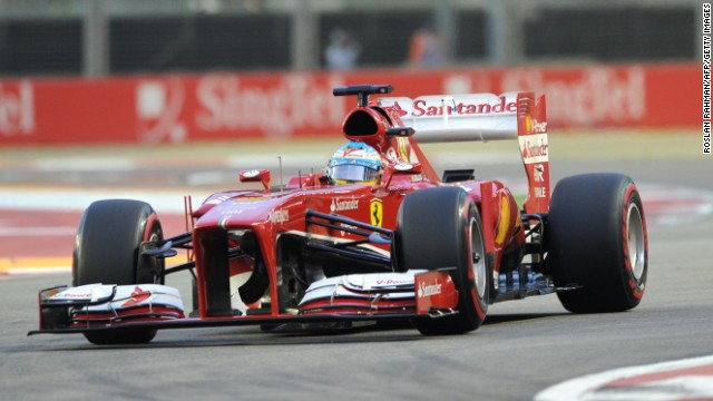 Ferrari's Fernando Alonso finished second at the Singapore Grand Prix, despite starting seventh on the grid.