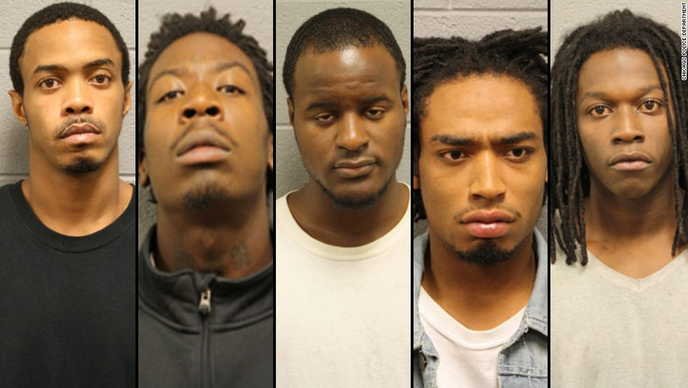 Chicago police  have arrested five people in connection with a September 19, 2013, shooting on Chicago's Back of the Yards neighborhood. The shooting injured 13 people, including a 3-year-old boy.