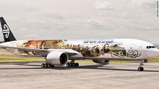 Air NZ's Hobbit plane - click to expand