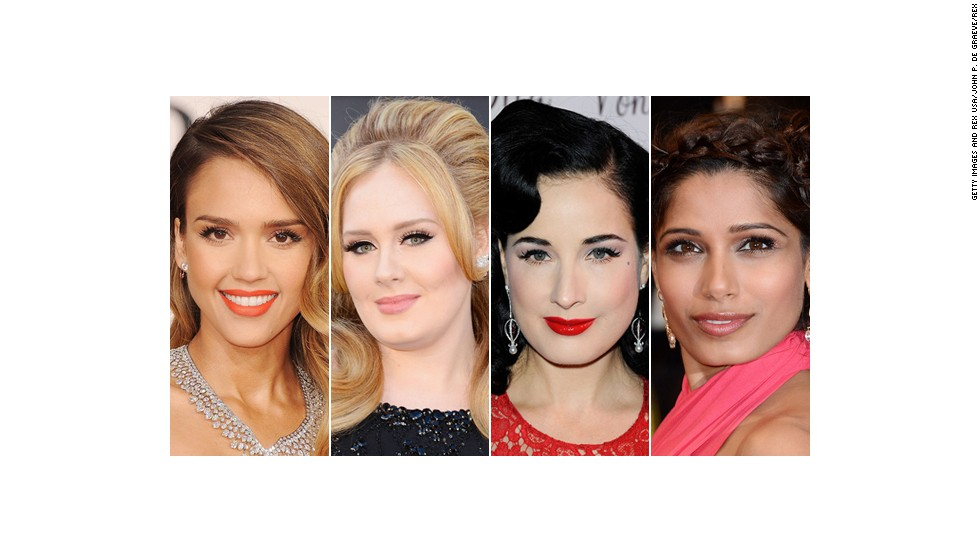 Stars like Jessica Alba, Adele, Dita Von Teese and Freida Pinto show off elegant, iconic looks designed to dazzle on the red carpet -- and the wedding aisle. The makeup artists behind these cosmetic creations share their expertise.