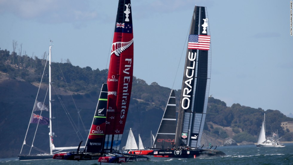 Emirates Team New Zealand made an encouraging start but it was the reigning champion which went on to dominate the contest -- winning by 44 seconds.