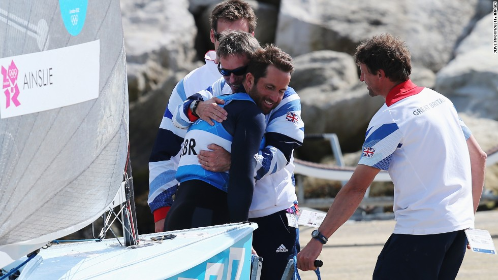 """Oracle Team USA added another key ingredient to their America's Cup comeback brew -- someone who had pulled off a coup before. Ben Ainslie, drafted in as the team's new tactician, won Olympic gold from the brink of defeat in 2012. """"After six races I was in trouble,"""" said the Briton, who also had a back injury. """"Thankfully I turned it around."""""""