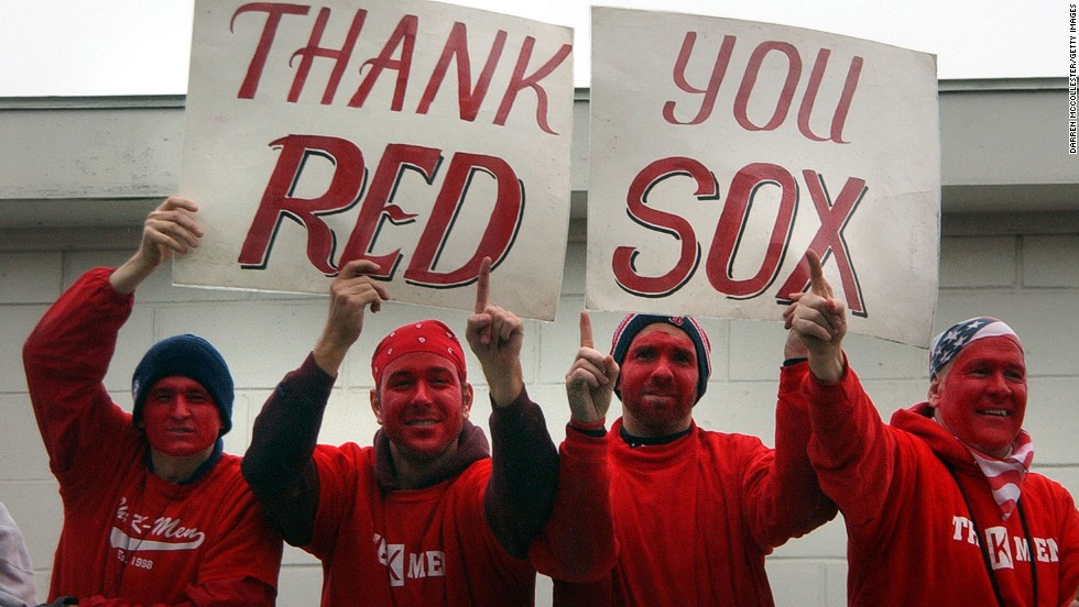 Baseball fans painted Boston red in 2004 after the Red Sox won the World Series in what some say is baseball's greatest comeback. The team launched an unprecedented recovery from 3-0 down in the playoffs against the New York Yankees. The invigorated Red Sox then beat the Cardinals in four straight games to win their first World Series since 1918.