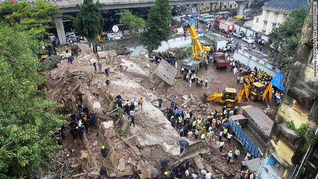 Five-story building collapses in Mumbai
