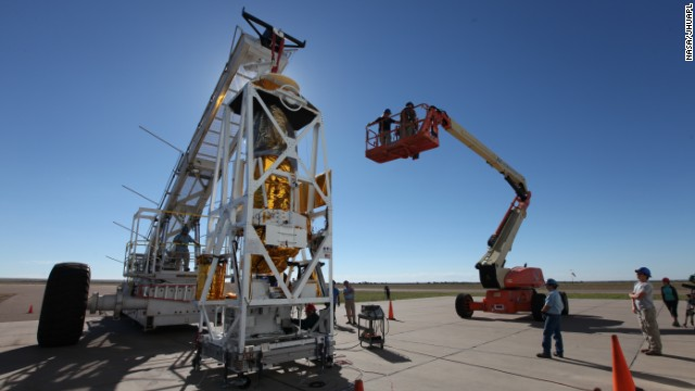 The Balloon Rapid Response for Comet ISON (BRRISON) completes pre-flight testing at NASA's Columbia Scientific Balloon Facility in Fort Sumner, New Mexico.