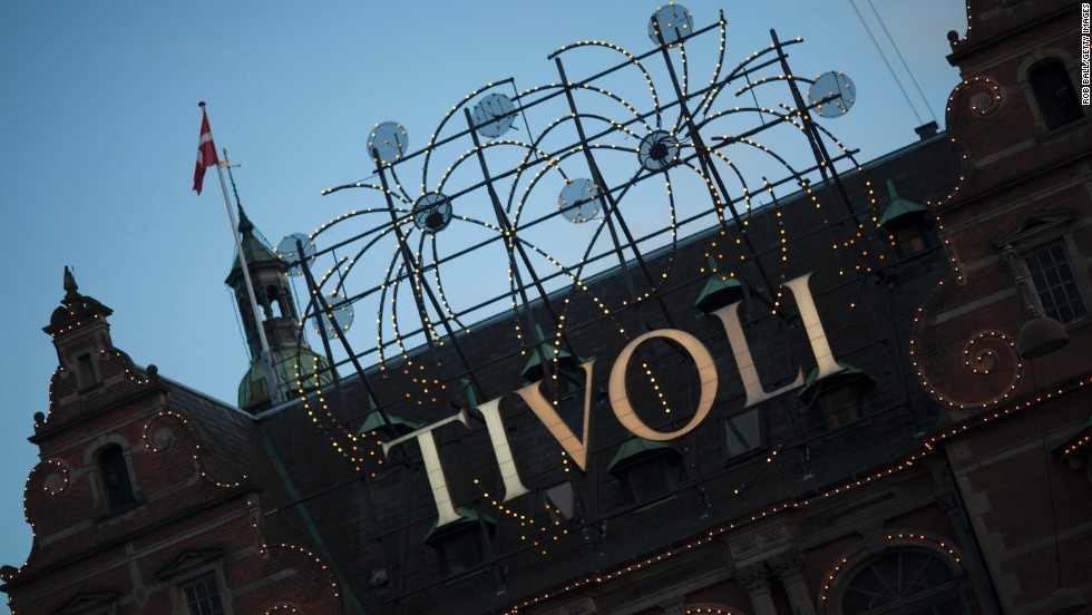 23.Tivoli Gardens in Denmark features all sorts of amusements and entertainments.