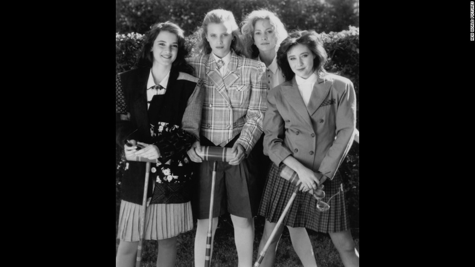 "The dark comedy ""Heathers"" was the original ""Mean Girls."" From left are stars Winona Ryder, Kim Walker, Lisanne Falk and Shannen Doherty."