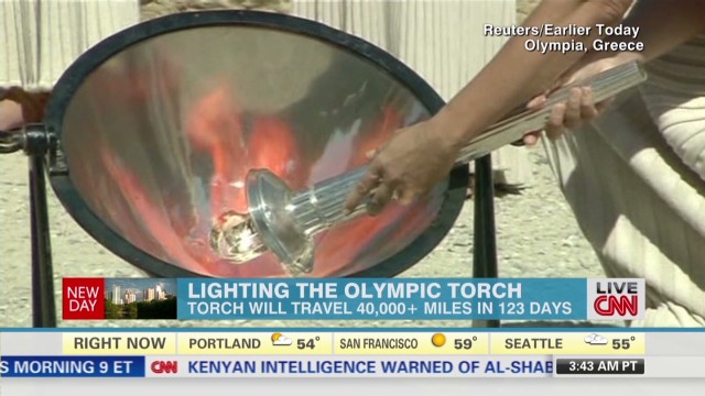 Sochi 2014: The torch begins its journey