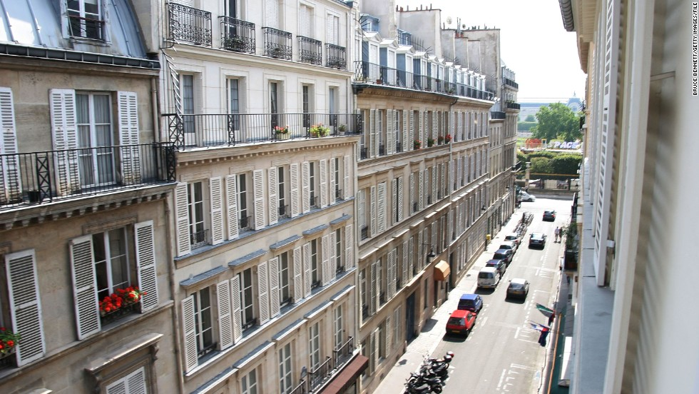 Parking spaces in Paris (pictured) not included with rental.