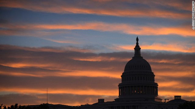 The morning sun on the U.S. Capitol in Washington, Sept. 30, 2013, as government teeters on the brink of a partial shutdown.