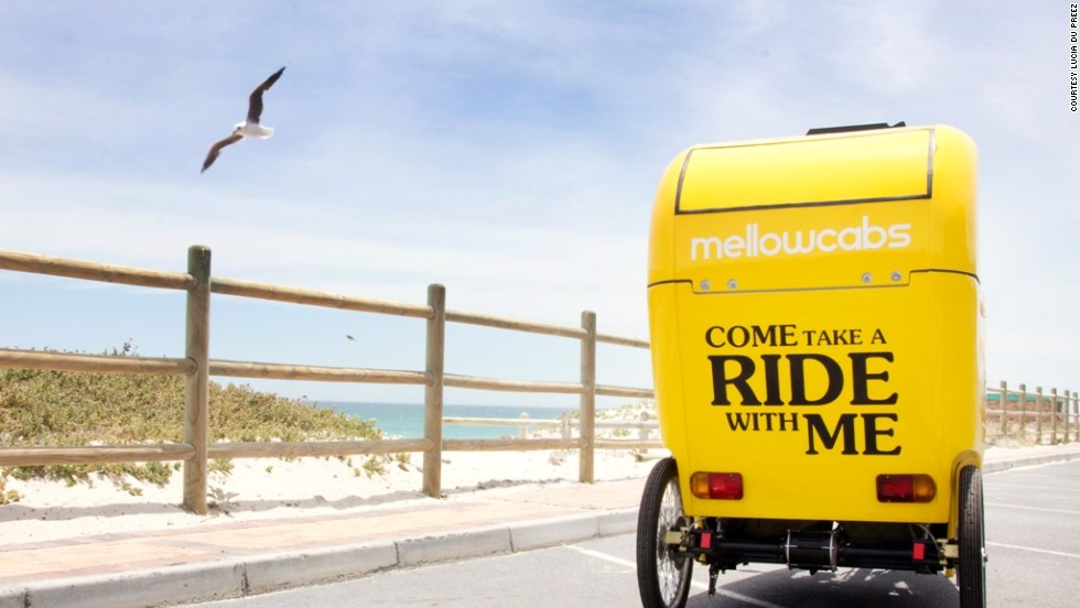 South African startup Mellowcabs offer a sustainable taxi solution, as well as in-cab tablets running adverts tailored to the cab's location.