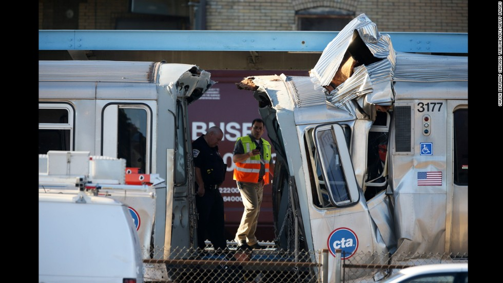 A Chicago commuter train that was parked in a service yard moved onto a rail line and smashed into an oncoming train early Monday, September 30. At least 48 people were injured; 33 of them were transported to hospitals, Forest Park Mayor Anthony Calderone told CNN affiliate WLS. They are believed to have minor injuries.