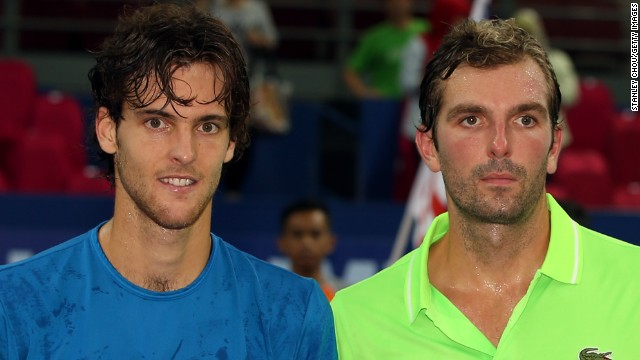 Julien Benneteau, right, looked stunned in Kuala Lumpur after he lost yet another tennis final.