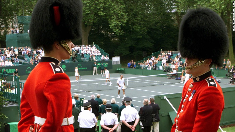 It won't be the first time a sporting event is played at Buckingham Palace. John McEnroe and Bjorn Borg were the star attractions at a charity tennis tournament in 2000.