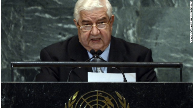 Syrian Foreign Minister Walid Moallem speaks during the 67th session of the United Nations General Assembly at the United Nations in New York on October 1, 2012. AFP PHOTO/ TIMOTHY A. CLARY (Photo credit should read TIMOTHY A. CLARY/AFP/GettyImages)