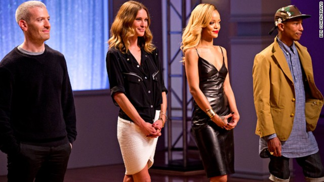 "Singer Rihanna (third from left) will have a new reality series titled ""Styled to Rock"" on Bravo."
