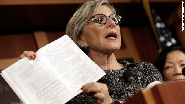 Sen. Barbara Boxer explains how the shutdown bill would allow companies to deny women coverage provided in the ACA.