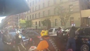 Bikers Video Nyc Motorcycles SUV clash on NYC