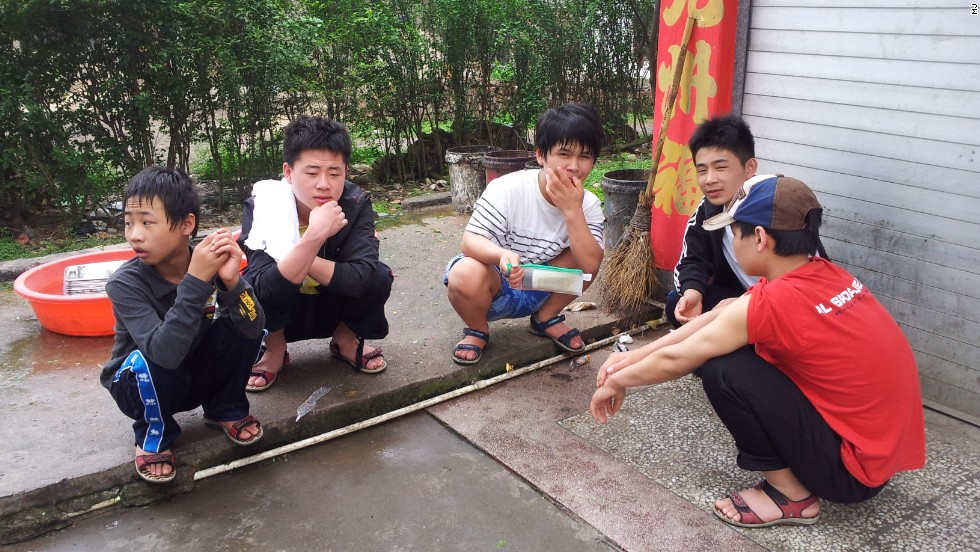 The abandoned youngsters, aged between 15 and 23, had crossed into China to try to find food and shelter. They were sheltered by M.J. for two years.