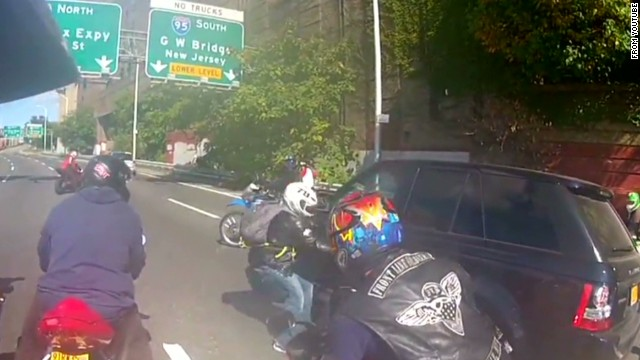 Bikers In Nyc Range Rover Video shows motorcyclists