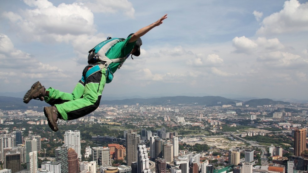 You can't beat the views. But the thought of hurtling towards the ground with only seconds to pull your rip cord is a huge barrier to entry for most of us non-base jumpers.