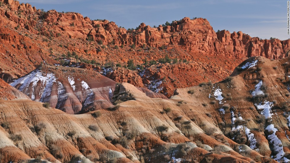 Millions of years of geologic history are exposed at the Grand Staircase- Escalante National Monument.