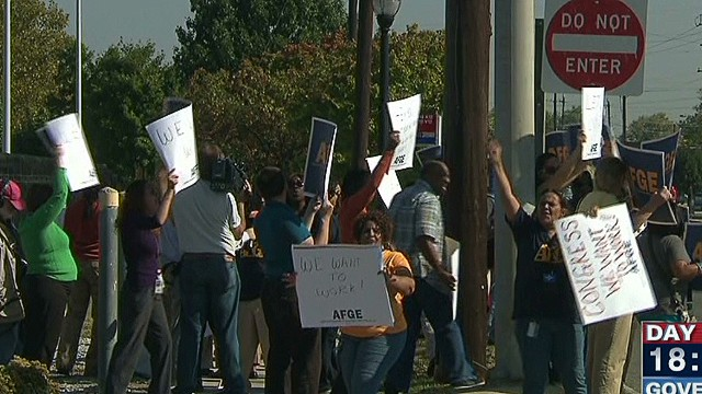 Furloughed employees turned away