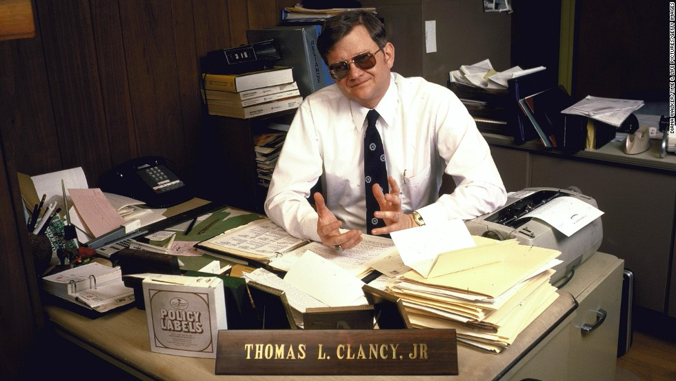 "Clancy poses for a photo in 1985. His 1984 novel ""The Hunt for Red October"" brought Clancy into the spotlight."
