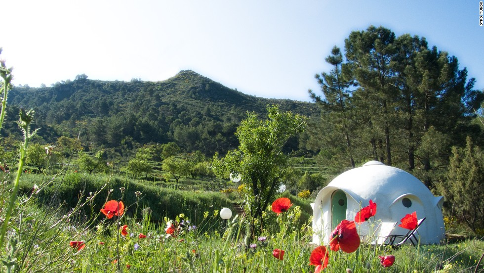 Otro Mundo's igloo-like eco-pods can sleep up to five people. They're fully furnished and have solar-heated showers and composting toilets.