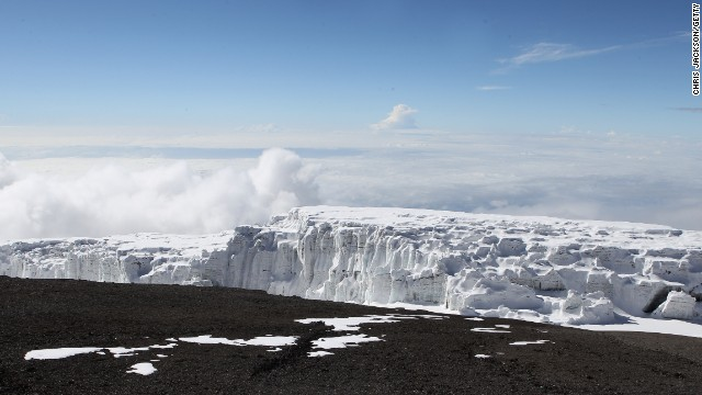 No, it's not the Alps. It's Mt. Kilimanjaro, in Tanzania.