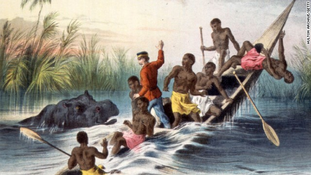 This colonial artist had it (more or less) right ... Hippos are big killers in Africa.