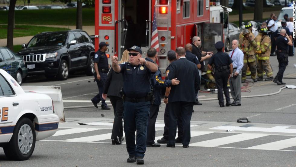 Police secure the scene.