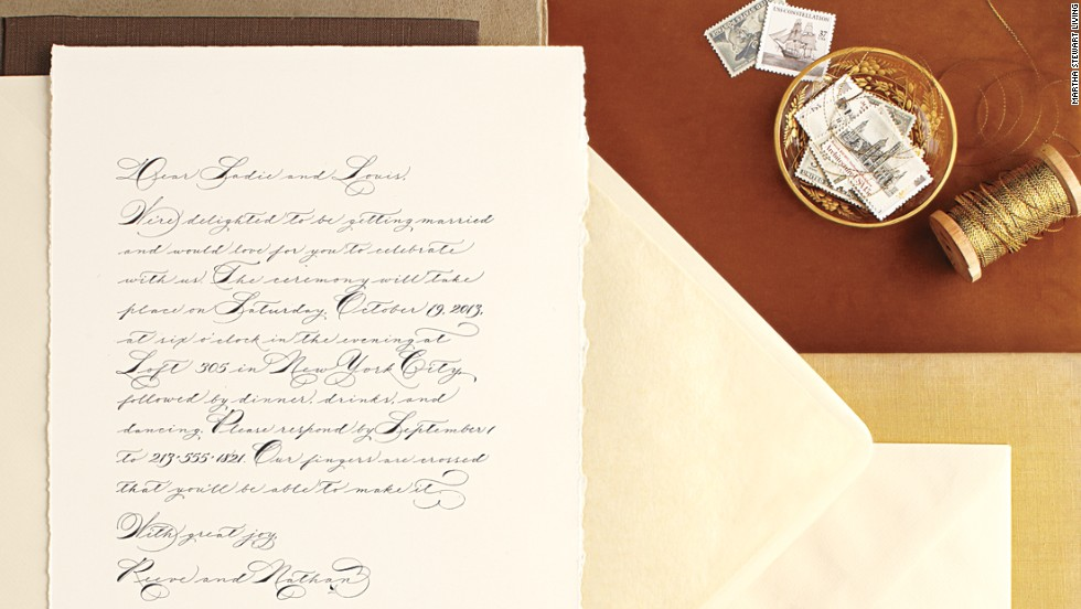 A hand-written letter can serve as a sentimental wedding invitation.