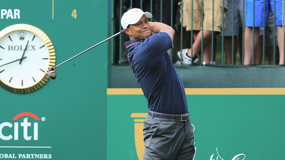 Fresh off being named the PGA's player of the year, Tiger Woods made his eighth appearance at the Presidents Cup. The competition features the U.S. against the rest of the world, excluding Europe.