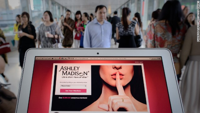 This photo illustration taken on August 20 shows the homepage of the Ashley Madison dating website displayed on a laptop in Hong Kong. The founder of a dating service promoting adultery is setting his sights on China's cheating hearts after a controversial launch in Hong Kong.