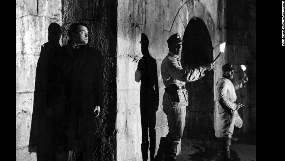 "In one of the great reveals in movie history, black market profiteer Harry Lime (Orson Welles) emerges from the shadows in ""The Third Man""<strong> </strong>(1949). For much of the movie, Holly Martins (Joseph Cotten) and the audience believe Lime is dead."