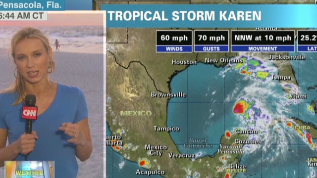 Karen moving toward Gulf Coast