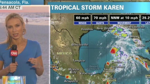 Karen moving toward Gulf Coast