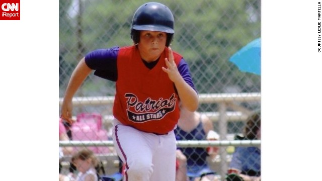 Garrett Buckelew playing baseball before being diagnosed.