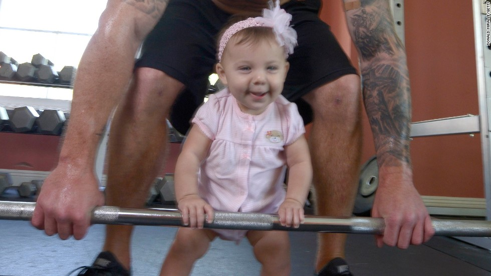 She may still be a bit young for toddler CrossFit, but, nevertheless, it appears this cute little girl already had a better workout today than most of us.