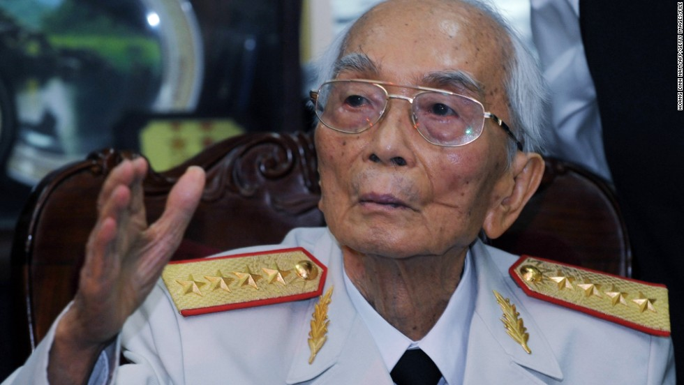 "<a href=""http://www.cnn.com/2013/10/04/world/asia/vietnam-general-death/index.html"">Gen. Vo Nguyen Giap</a> of the Vietnam People's Army, a man credited with major victories against the French and the American military, died on October 4. He was 102."