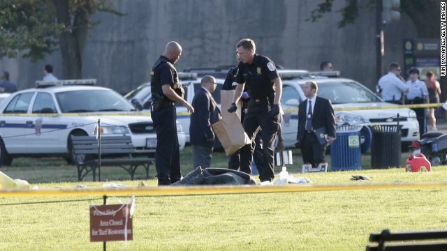 Reports: Man on fire on National Mall