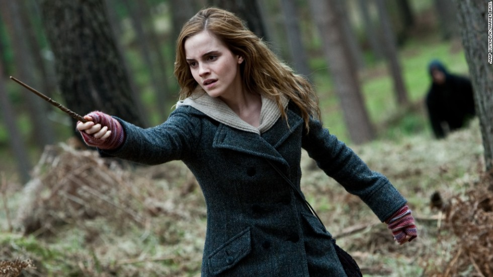 "J.K. Rowling's books were centered on the ""boy who lived,"" but he wouldn't have gotten very far without Hermione Granger, played by Emma Watson. As the smartypants of their wizarding trio, Hermione always knew exactly the right spell to get them out of a pinch."
