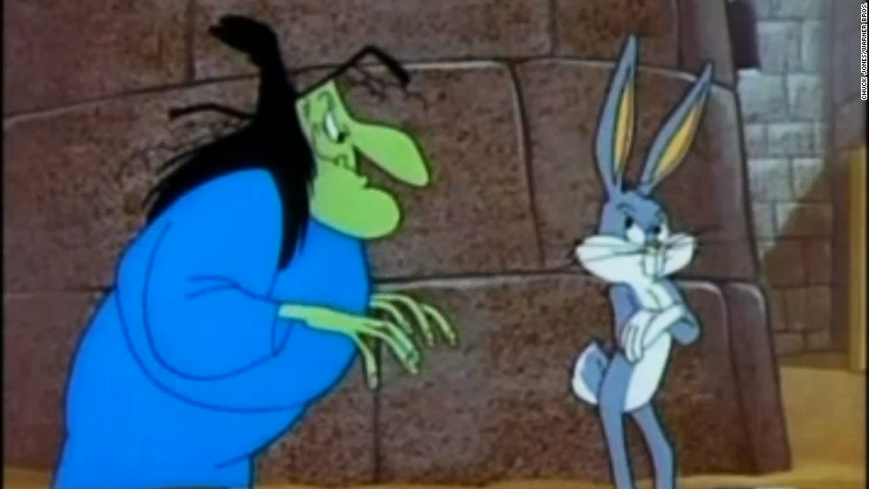 "<a href=""http://www.dailymotion.com/video/xdk7ww_a-witch-s-tangled-hare_shortfilms"" target=""_blank"">In a cackling contest, Witch Hazel would have everyone beat</a>. The animated witch was often Bugs Bunny's foe, but given her jovial attitude and infectious giggle, you can't help but love her."