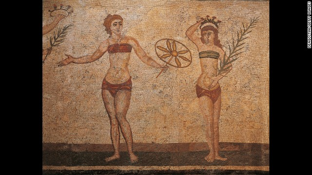"An ancient Roman bikini catalogue?  ""I'll have that one!"""