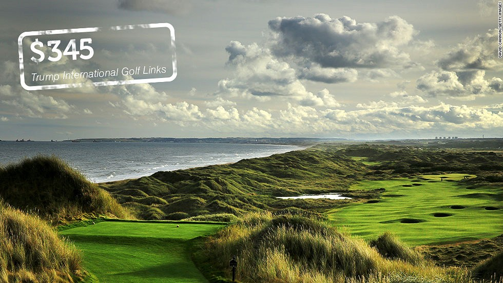"<strong>Trump International Golf Links, Aberdeenshire, Scotland</strong>: Donald Trump's course opened to <a href=""http://cnn.com/2012/07/10/sport/golf/donald-trump-new-golf-course-in-scotland/index.html"">great fanfare</a> in the summer of 2012 with the American tycoon hailing the 7,400-yard links on the northeast coast of Scotland as ""the world's greatest golf course."" <a href=""http://www.trumpgolfscotland.com/Default.aspx?p=DynamicModule&pageid=335964&ssid=234105&vnf=1"" target=""_blank"">Weekend green fees</a> during the summer cost $215 ($345). Local residents can play for less.  <br />"
