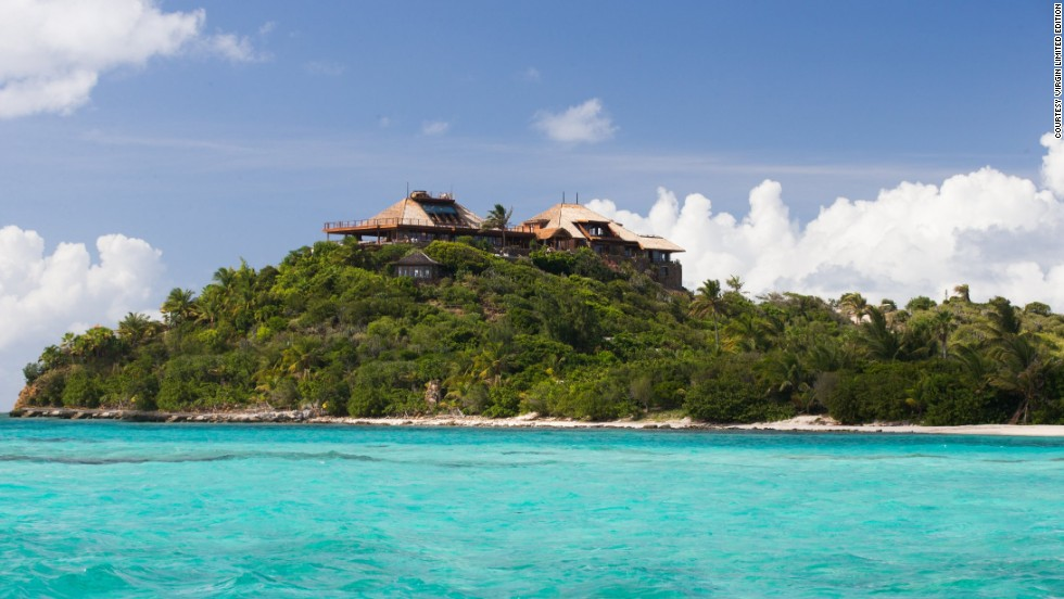 Sir Richard Branson's Great House on Necker Island has been rebuilt after a 2011 fire caused by lightning.